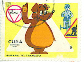 Sello postal del Oso Prudencio