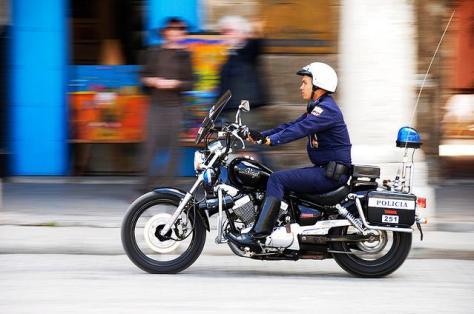 policía motorizada