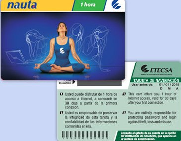 Nauta, tarjeta para navegación en Internet