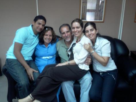 René González  y familia