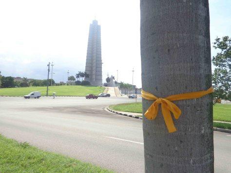 Cinta en Plaza de la Revolución